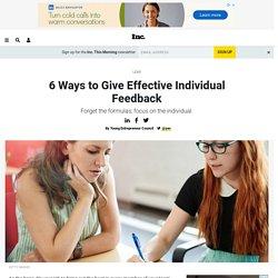 6 Ways to Give Effective Individual Feedback