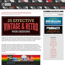 25 Effective and Vintage Retro Web Designs
