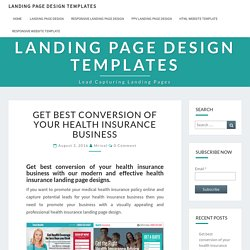 modern and effective health insurance landing page designs