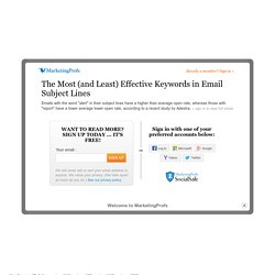 The Most (and Least) Effective Keywords in Email Subject Lines