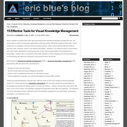 15 Effective Tools for Visual Knowledge Management