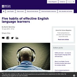 Five habits of effective English language learners