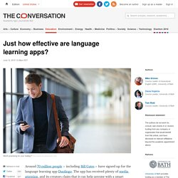 Just how effective are language learning apps?