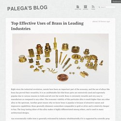 Top Effective Uses of Brass in Leading Industries