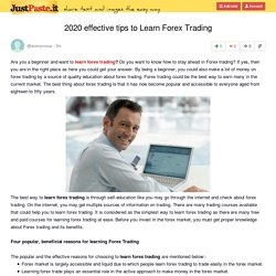2020 effective tips to Learn Forex Trading