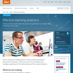 Effective learning analytics