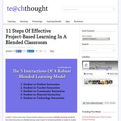 11 Steps Of Effective Project-Based Learning In A Blended Classroom -