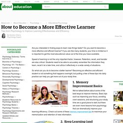 Effective Learning - Tips From Psychology