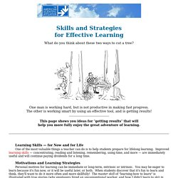 Effective Learning Skills & Strategies - Study Skills & More