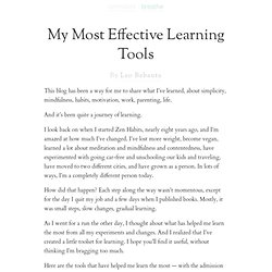 My Most Effective Learning Tools