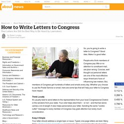 How to Write Effective Letters to Congress