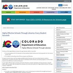 Highly Effective School Library Program