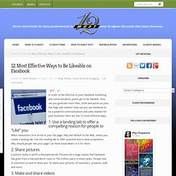 12 Most Effective Ways to Be Likeable on Facebook