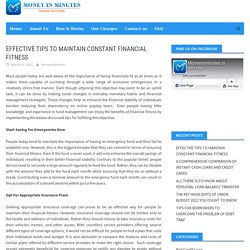Effective Tips To Maintain Constant Financial Fitness