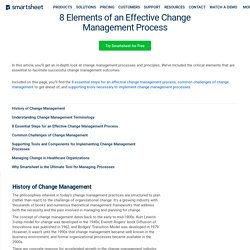 8 Steps for an Effective Change Management Process
