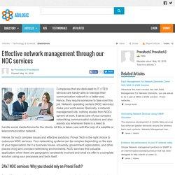 Effective network management through our NOC services
