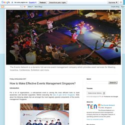 How to Make Effective Events Management Singapore?