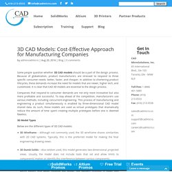 3D CAD Models: Cost-Effective Approach for Manufacturing Companies