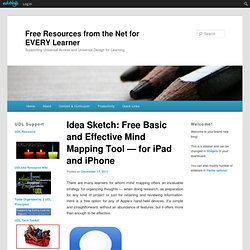 Idea Sketch: Free Basic and Effective Mind Mapping Tool — for iPad and iPhone
