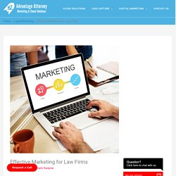 Effective Marketing for Law Firms