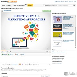 Effective Email Marketing Approaches
