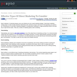 Effective Types Of Direct Marketing To Consider