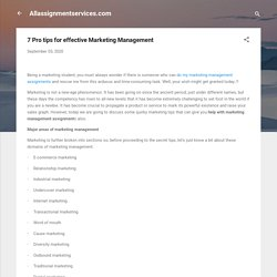 7 Pro tips for effective Marketing Management