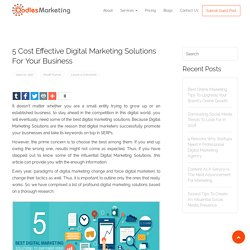 5 Cost Effective Digital Marketing Solutions For Your Business