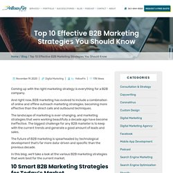 Top 10 Effective B2B Marketing Strategies You Should Know