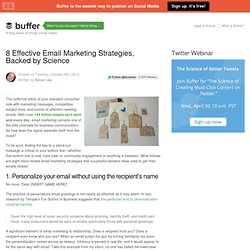 8 effective email strategies backed by research