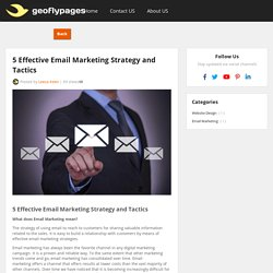 5 Effective Email Marketing Strategy and Tactics