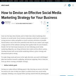 How to Devise an Effective Social Media Marketing Strategy for Your Business