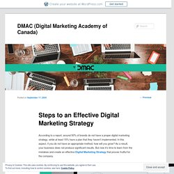 Steps to an Effective Digital Marketing Strategy