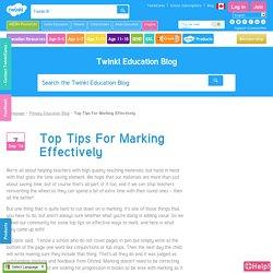 Effective Marking