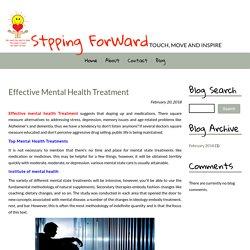 Effective Mental Health Treatment