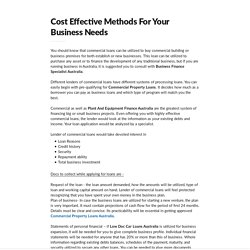 Cost Effective Methods For Your Business Needs