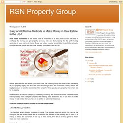 Easy Methods to Make Money in Real Estate in the USA - RSN Property Group