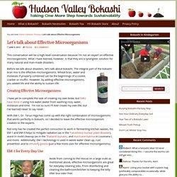 Let's talk about Effective Microorganisms : Hudson Valley Bokashi