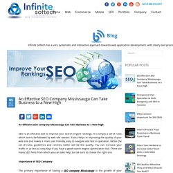 An Effective SEO Company Mississauga Can Take Business to a New High