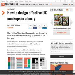 How to design effective UX mockups in a hurry
