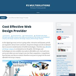Cost Effective Web Design Provider