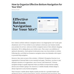 How to Organize Effective Bottom Navigation for Your Site? – Telegraph