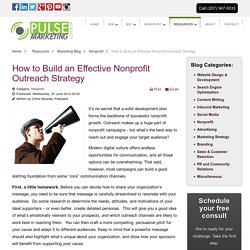 How to Build an Effective Nonprofit Outreach Strategy