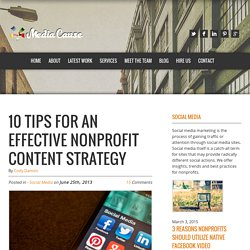 10 Tips For An Effective Nonprofit Content Strategy - Media Cause