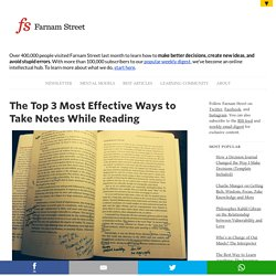 The Top 3 Most Effective Ways to Take Notes While Reading