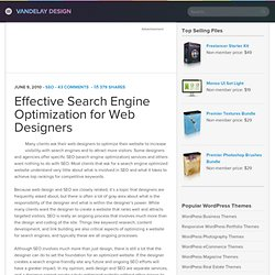 Effective Search Engine Optimization for Web Designers | Vandela