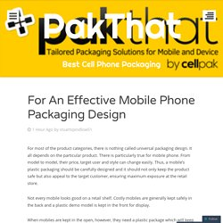 For An Effective Mobile Phone Packaging Design