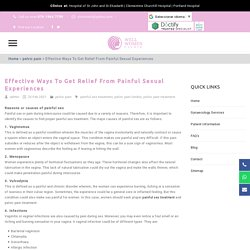 Effective Ways To Get Relief From Painful Sexual Experiences