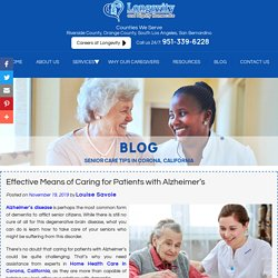 Effective Means of Caring for Patients with Alzheimer's