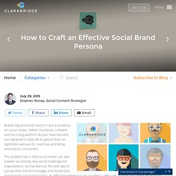 How to Craft an Effective Social Brand Persona